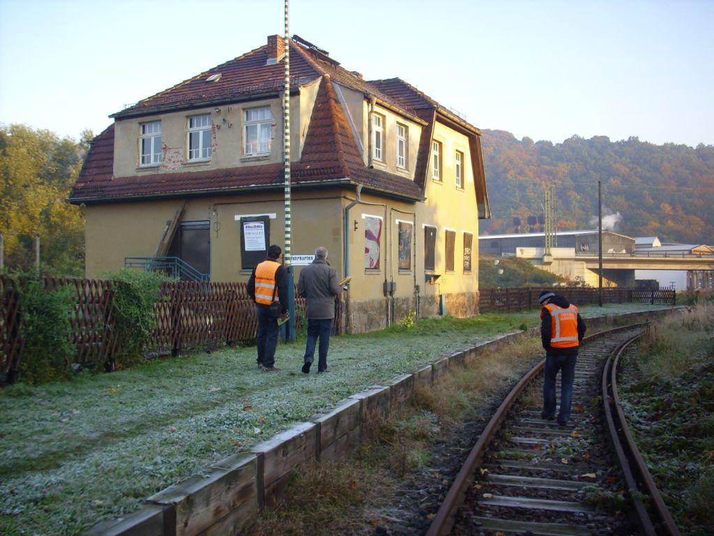 Am ehem. Dienstgebäude in Freital-Birkigt